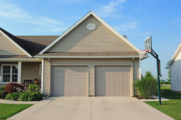 2 short panel garage doors